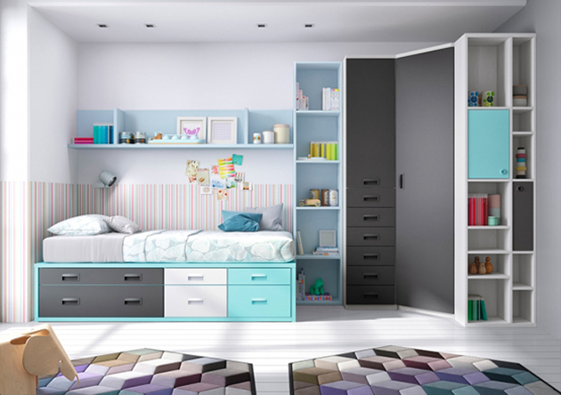 Dormitorio juvenil arhabitat for Armarios para dormitorios juveniles